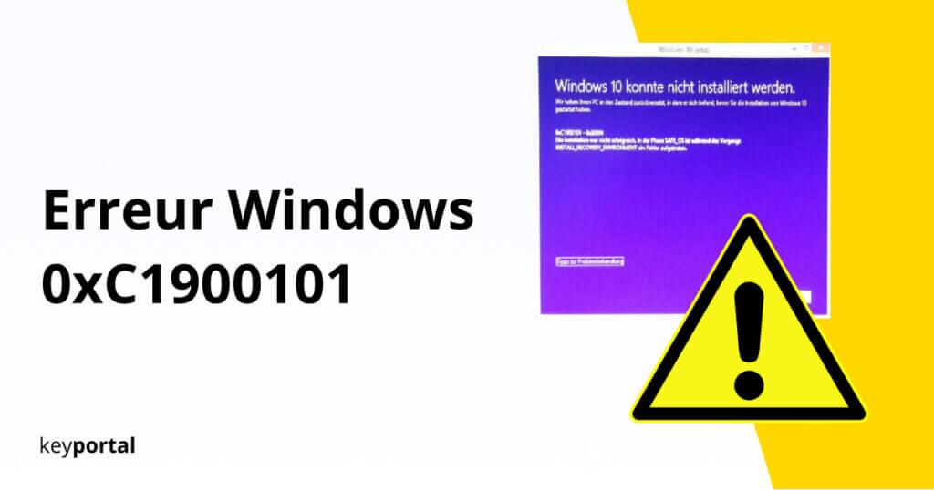 Prévenir l'erreur 0xC1900101 de mise à jour de Windows 10
